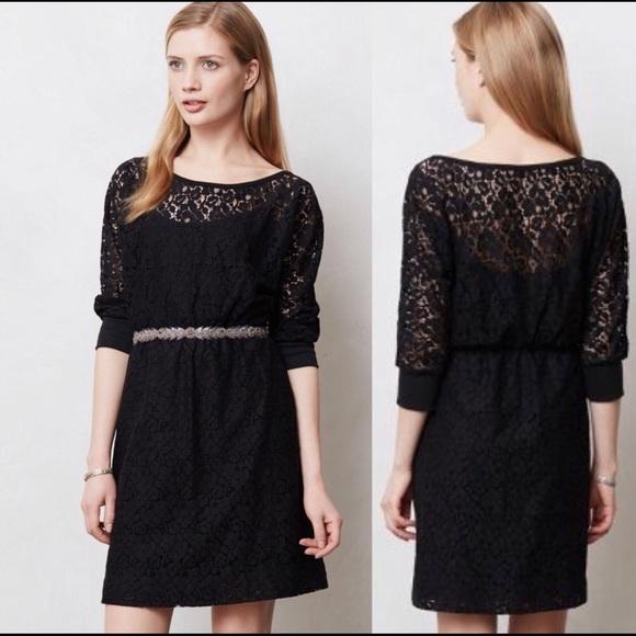 da316859d46 Anthropologie Dresses   Skirts - Staci Woo Souvenir Edition black lace dress  size M